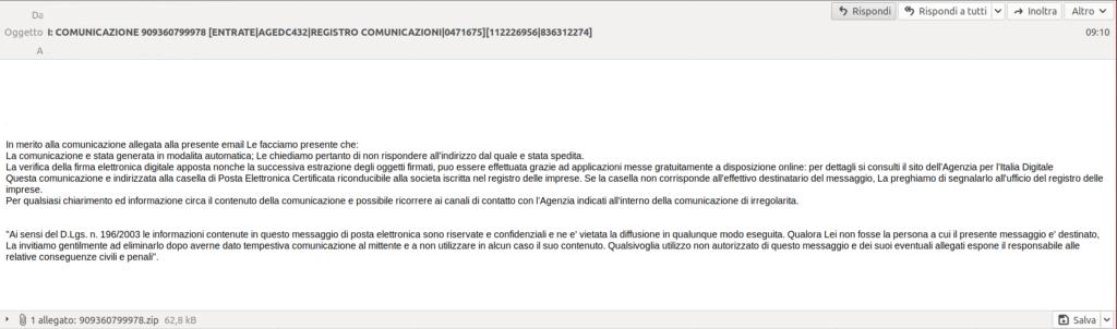 eniac blog - e-mail virus PEC